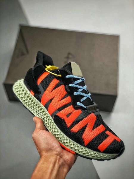 New ZX4000 Futurecraft 4D Trainers I Want I Can Designs Running Sneakers Man Onix Run Shoes Womens Hender Scheme Sports Shoe