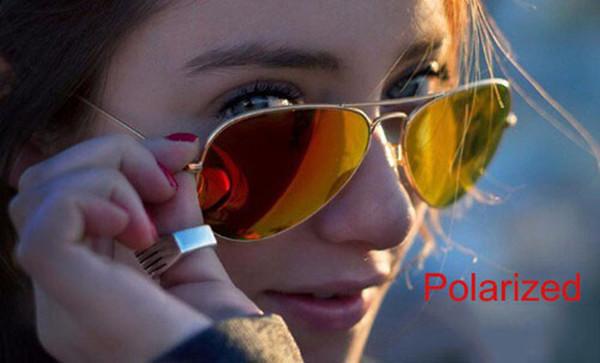 top popular Classic Pilot Style Sunglasses Brand Designer Sunglasses for Men Women Metal Frame Flash Lens Fashion Sunglasses With Box 2019