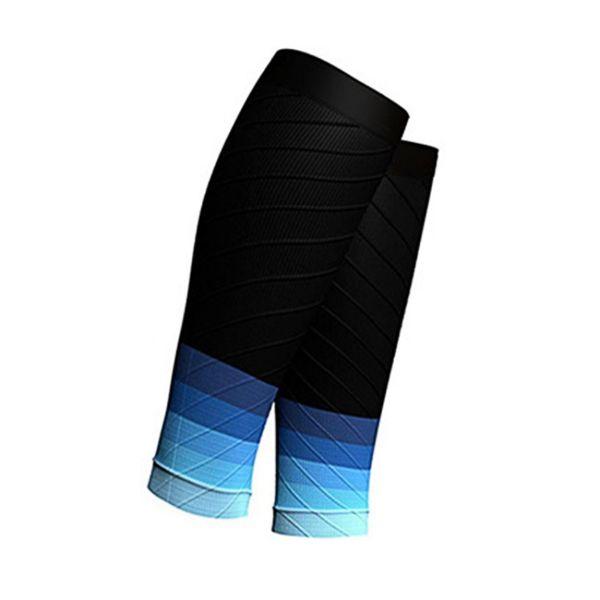 Steigung-Farben-Trail Running Radfahren Outdoor Sports Marathon Socken Fußball Schienbeinschutz atmungsaktiv Calf Sleeve
