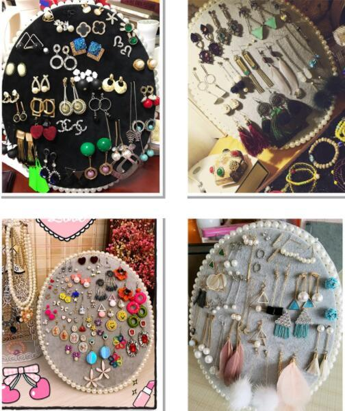 22*17cm 6style Jewelry Stand Frame Display Hanging Board/Earring Jewelry Wall can be hung Receiving Board Home furnishings 1pc C619
