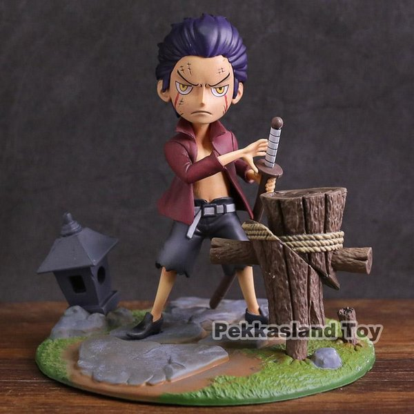 Anime One Piece Childhood Dracule Mihawk Young Children Ver PVC Figure Toy Model da collezione