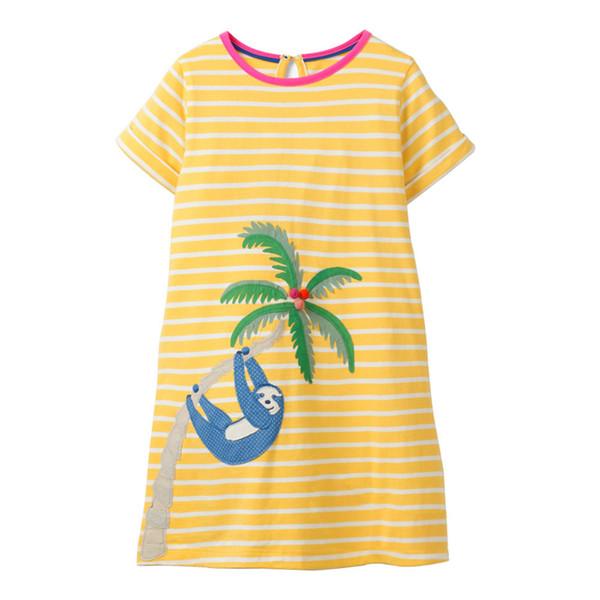 kids designer clothes Polka Dot Girls Dresses kids designer clothes 100% Cotton Quality Striped Monkey Trees Kids Dedigner Clothes