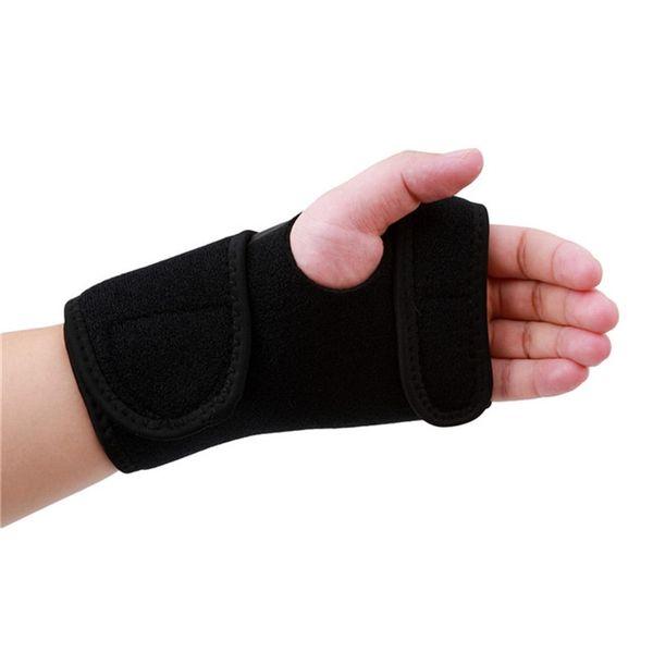 Splint Sprains Arthritis Band Belt Wrist Support Brace Wristband Carpal Tunnel Support Thumb Wrist Pain Hand Bandage Black Glove #189203