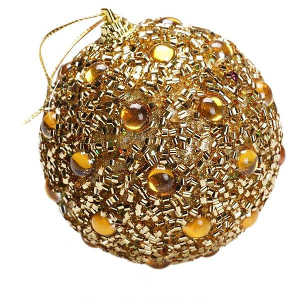 Natale strass decorativi sfera 8CM glitter Palline schiuma palle Xmas Tree Hanging Ornament pendenti fai da te Decorazione natalizia