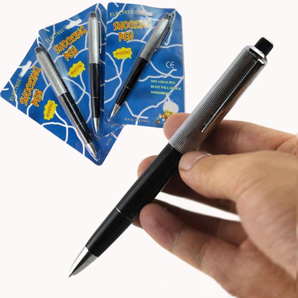 Día de los locos de abril Nuevos bolígrafos exóticos Bolígrafo Choque eléctrico Choque de juguete de regalo Broma Truco Juguetes divertidos C5740