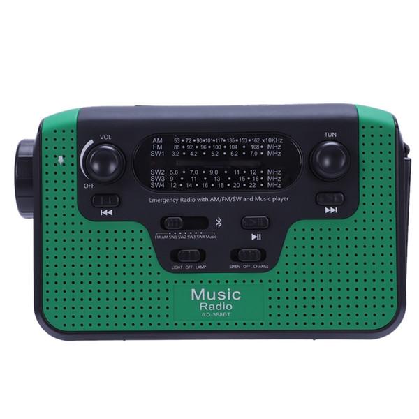 Rádio ao ar livre portátil do fm com o jogador Mp3 de Bluetooth Crank da mão Rádio solar da emergência