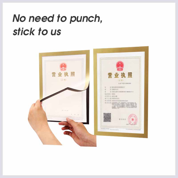 A6 multi-function magnetic pvc board Clear wall mounted picture poster document display frame plastic Sheet Paper Envelope