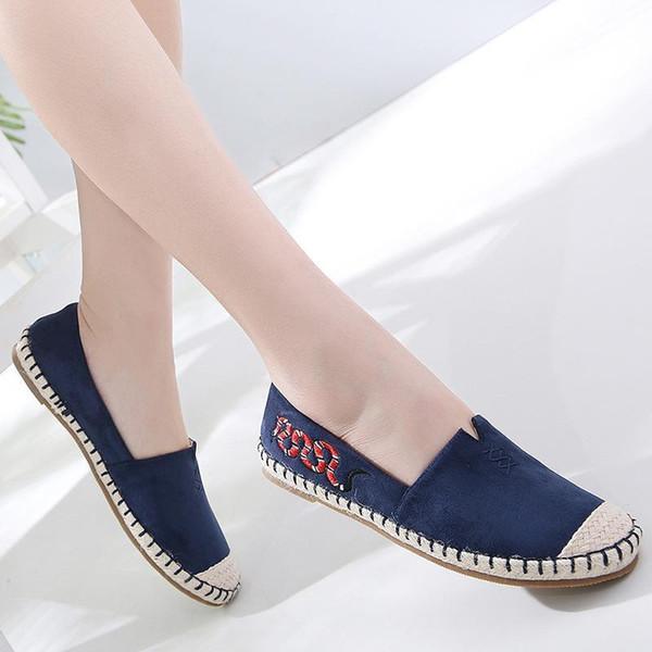 Femmes Slip On plat pour les femmes de la mode Sneakers couleur unie Mocassins Espadrilles Confort de conduite Location chaussures CV1