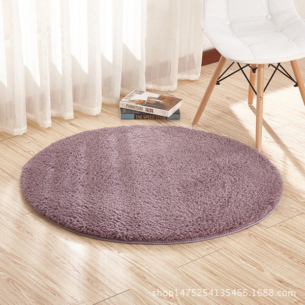 Area rugs lambskin round carpet fitness yoga mat hanging basket computer chair cushion bedroom living room bedside carpet 160cm