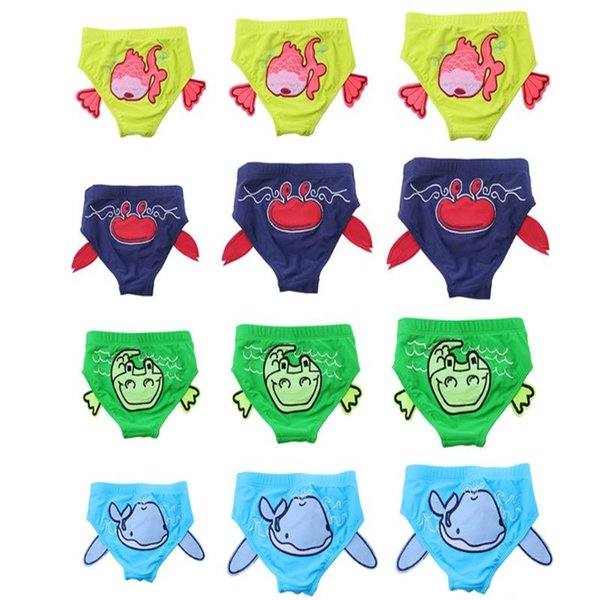 2019 New Arrival Kids Baby Trunks Boys Briefs Swimming Trunks Cartoon Children Boys Swimwear Swim 4 Styles