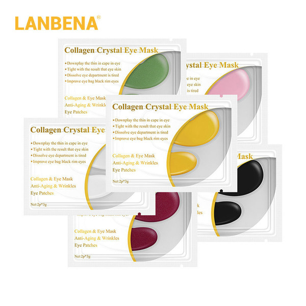 best selling LANBENA 1 Pair Crystal Collagen Eye Mask Eye Patches Eye Pads for Repair Dark Circles Remove Gel Mask