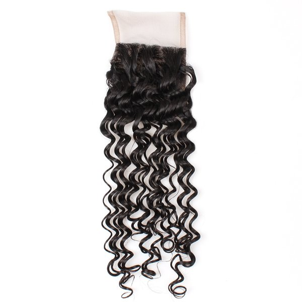 YAHLIGS Lace Closure 100% Real Hair Piece Lace 4*4 Hair Curtain Accessories Deep Wave Hair Extensions Direct factory J36