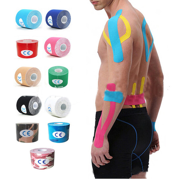 Gym Fitness Kinesiology Tape Strapping Cotton Elastic Knee Muscle Physiotherapy Tape Waterproof Athletic Recovery Sports Muscle