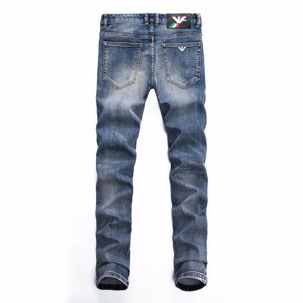 19 été section mince jeans de mode pour hommes en Europe et aux États-Unis haut de gamme pieds minces pantalons micro-élastiques jeunesse cent jean