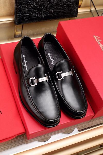 18ss Top de luxo da marca italiana de couro sapatos formais homens clássicos sapatos oxford para homens mocassins homens sapatos de vestido duplo calça cinta monge