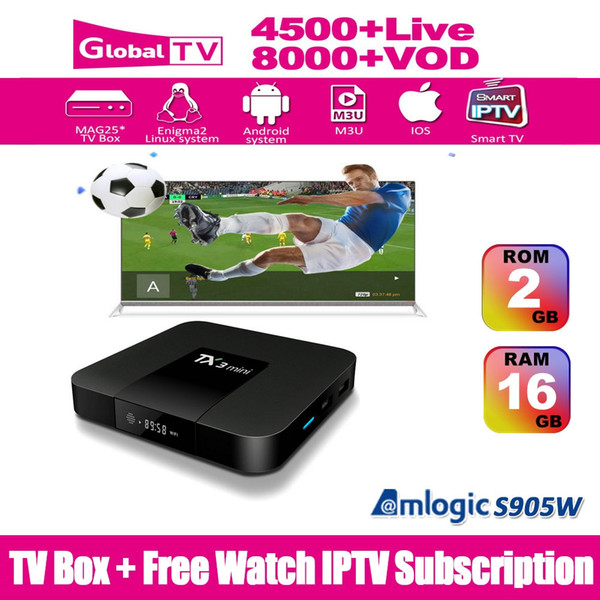IPTV Subscription Arabic IPTV Sports CA UK Spain IT GE Latino Europe 4500+  LIVE TV Abonnement IPTV French Italy VOD 8000+ Set Top Box Free Tv Box