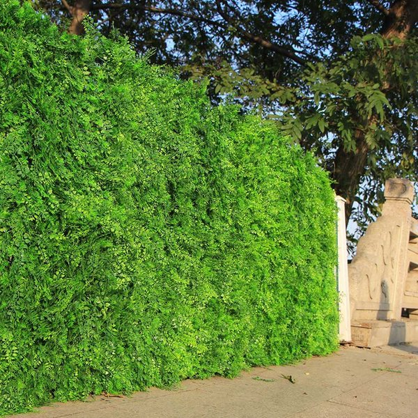 """Outdoor Artificial Boxwood Ivy Hedge Privacy Fence Wall 10""""X10"""" UV Proof Grass Mats Plastic Plants for Decoration Garden Indoor"""