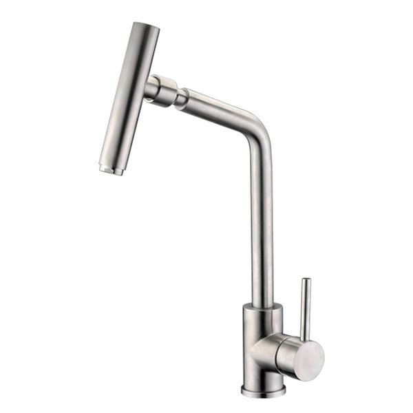 Kitchen Faucet Single Handle 360 Degree Swivel Spout 304 stainless steel Bathroom Basin Faucet Hot Cold Water Mixer Water