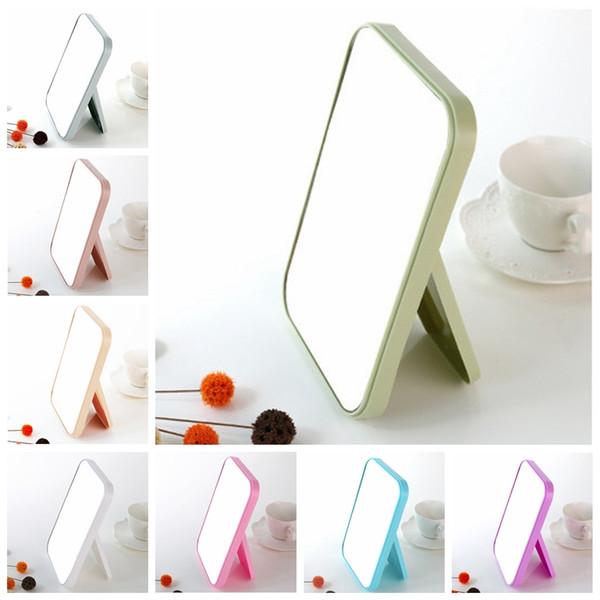 HD макияж зеркало рабочего стола красочные односторонний большой зеркало для макияжа женщины путешествия складной портативный квадратный косметический Принцесса зеркало DBC DH0790