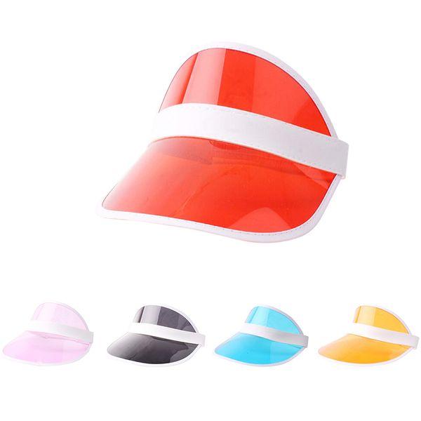 Summer PVC Hat Sun Visor Party Casual Hat Clear Plastic Adult Sunscreen Cap