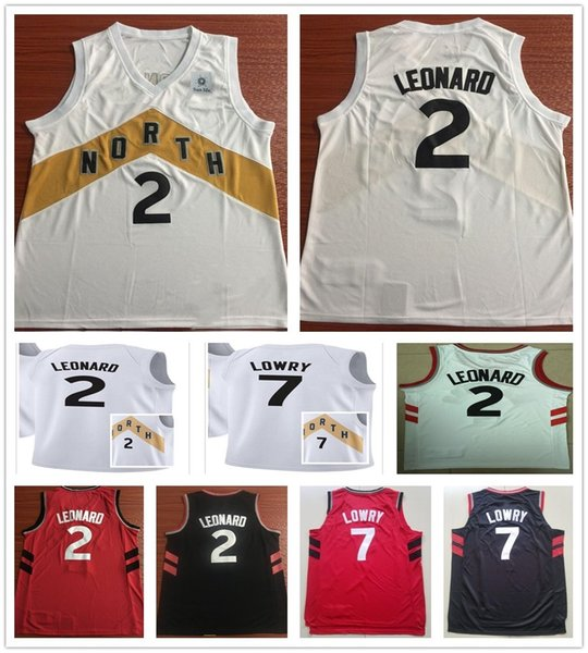 hot sale online 6be39 d4575 2019 2019 New City Edition White 2 Kawhi Leonard Jerseys Men Sportswear  Black Gold Red White 7 Kyle Lowry Jersey Stitched Breathable Shirt From ...