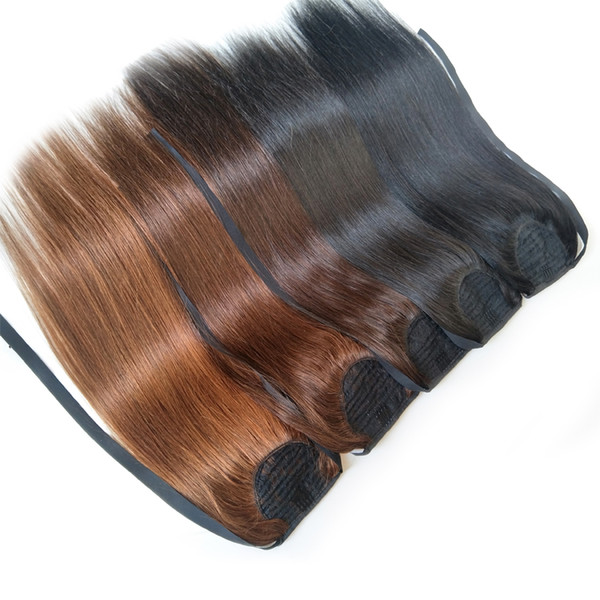 """Hot Sell Cuticle Aligned Hair Clip In Ponytail Human Hair Extensions 14""""-28"""" Remy Virgin Hair 10 Colors Optional 50g 70g 100g"""