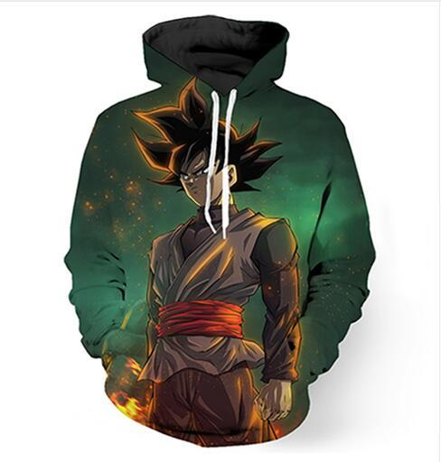 Мода одежда Dragon Ball Z Гоку MenWomen толстовки мужская повседневная стиль 3d печати балахон хип-хоп кофты куртка пуловер топы RG069