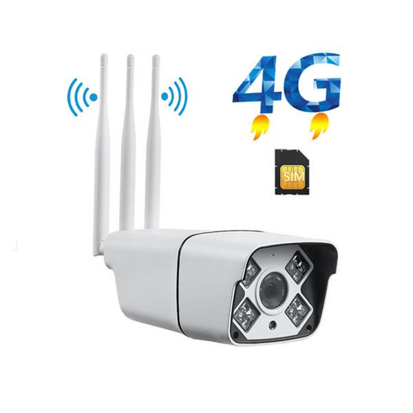 4G IP-Kamera wasserdicht im Freien 4G 3G WiFi Sicherheit CCTV-Kamera Sim-Kartensteckplatz Wireless-Aufnahmekarte Home Security Surveillence Video 6mm