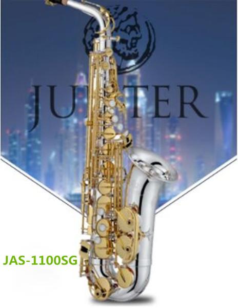 Tayvan JUPITRE JAS-1100SG Eb Alto Saksafon Altın anahtar Sax Alto Ağızlık sazlık ile Profesyonel enstrüman Ücretsiz