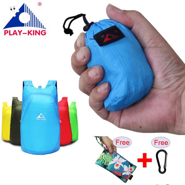 Playking Lightweight Nylon Foldable Backpack Waterproof Backpack Folding Bag Portable Men Women Backpack For Travel Shopping Bag