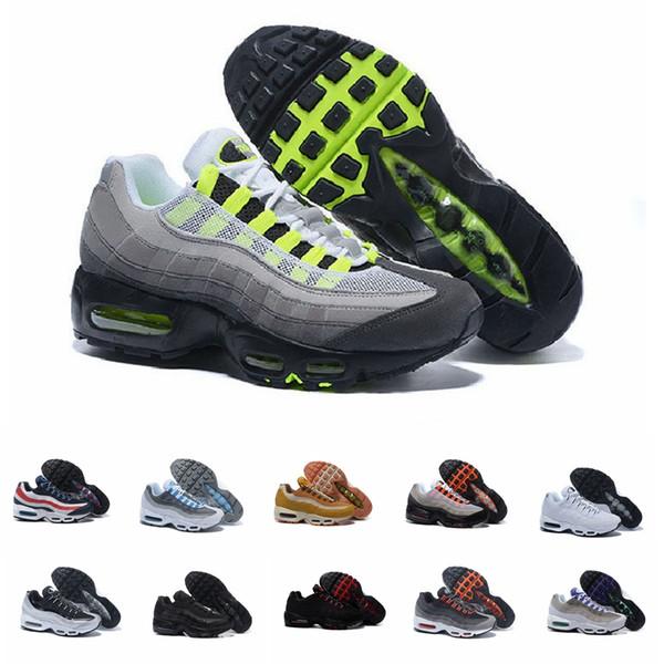 Designer Men Women 95s Running shoes SE OG Neon TT Black Red Triple White Aqua Ultramarine Mens Trainer Sport Sneakers Size 7-11