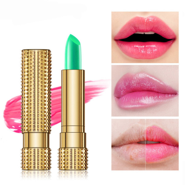 Fashion nature sexy waterproof Lasting Warm lipstick Healthy moistening Chameleon lipstick Not easy to fade Aloin