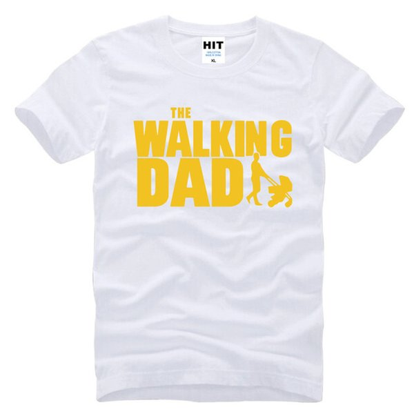 2019 Womens Luxury Designer T Shirts The Walking Dad Fathers Day Gift Funny Mens Short Sleeve O T Shirt Size S 3xl Transfers Cotton Awesome Shirt