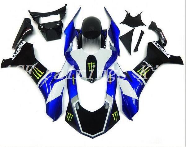 Nuevo molde de inyección ABS carenados de motocicleta aptos para YAMAHA YZF-R1 2015 2016 YZF R1 15 16 YZF1000 kits de carenado personalizados negro blanco azul
