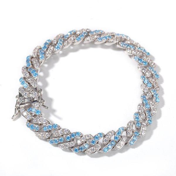bleu avec 7inch cz blanc