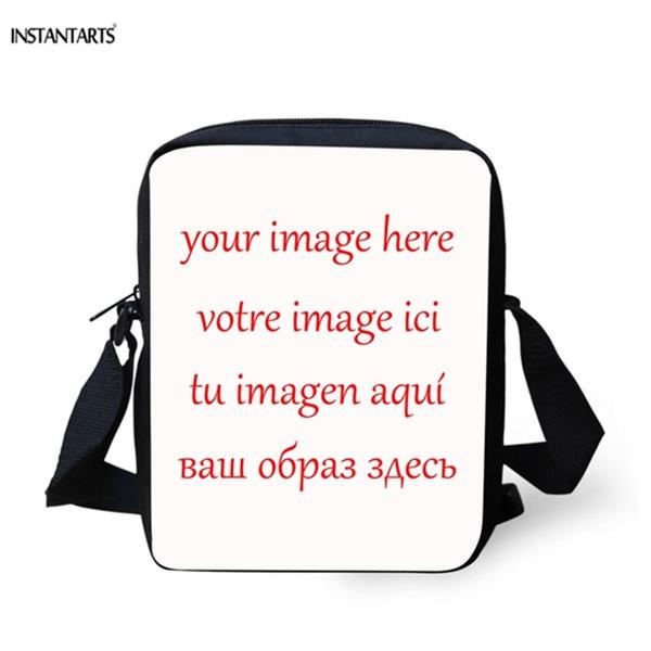 INSTANTARTS Femmes Homme Personnalisé Votre Image Messenger Sac Marque Design Enfants Casual Cross Body Sacs Voyage Petit Sac À Bandoulière # 44120