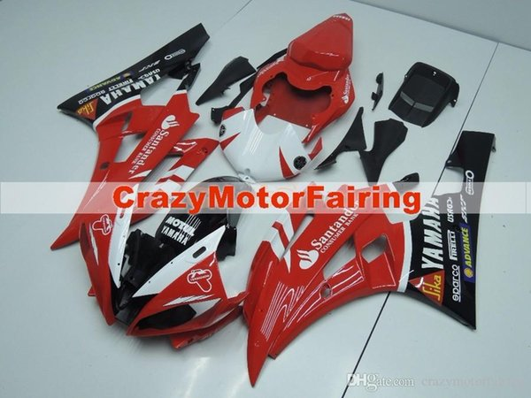 3 Free gifts New Injection ABS Fairing Kits 100% Fitment For YAMAHA YZF-R6 06-07 YZF600 2006 2007 R6 bodywork set hot buy black red GG