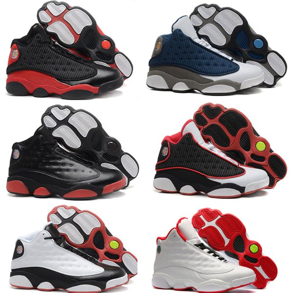 2019 13 Flint Men Basketballschuhe 13s Bred Grey Toe Carmelo Anthony Klasse von 2002 Rabatt Sport Sneaker Weiß Hyper Royal Black Cat 5.5-13