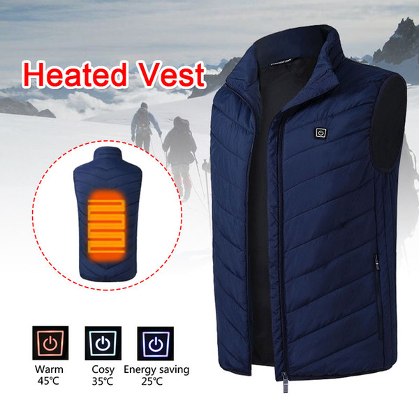 5-12v Down Cotton USB Body Warmer Electric Vest Heated Heated Pad 2018 Hot Compress Jacket Hot Winter Clothing