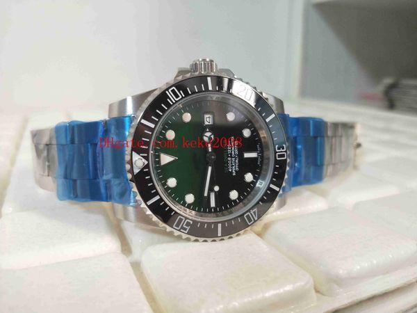 Classic Series Hochwertige Armbanduhren Sea-Dweller 116660 44mm Keramik Lünette Grün Schwarz Asia 2813 Bewegung Automatische Herrenuhr Uhren