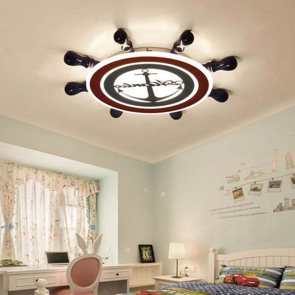2019 Childrens Bedroom LED Ceiling Lamp Dimming Cartoon Rudder Interior  Decoration Ceiling Lights Living Room Lighting Fixtures Avize From  Sebastiani, ...