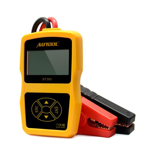BT360 12V testeur de batterie de voiture numérique pour GEL inondé BT-360 analyseur de batterie automobile 12 volts CCA multilingue