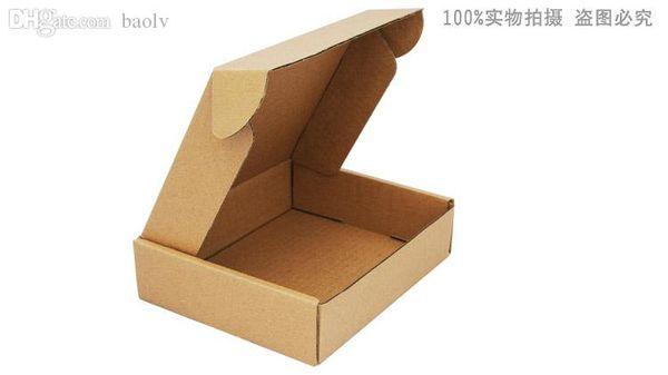 Wholesale-50pcs 20cm * 16cm * 5cm cajas de papel kraft caja de embalaje de regalo personalizado, cajas de embalaje de papel corrugado envío torta