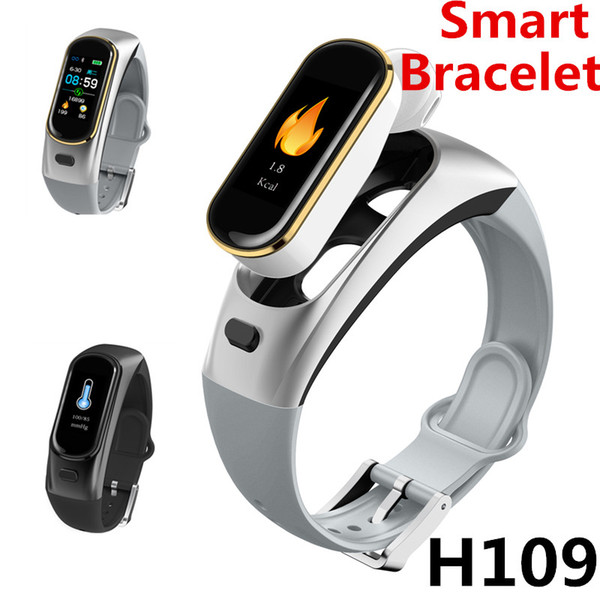 H109 Bluetooth call bracelet can be split 0.96 inch TFT color screen Push Message Remote photography Heart Rate Blood Oxygen Pedometer