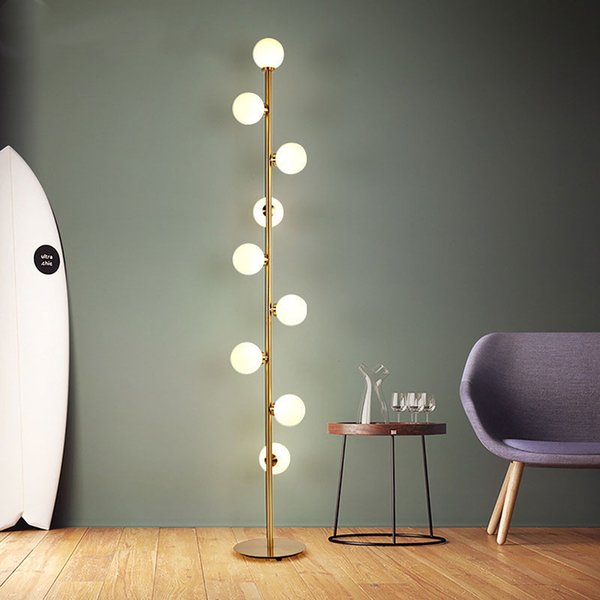 2019 Modern LED Living Room Standing Lamp Nordic Simple Glass Ball Floor  Lamp Home Deco Lighting Fixtures Bedside Lamps From Jess135, $321.61 | ...