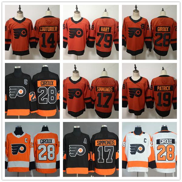 Philadelphia Flyers 79 Carter Hart 19 Nolan Patrick 14 Sean Couturier 28  Claude Giroux 17 Wayne 92034b65d