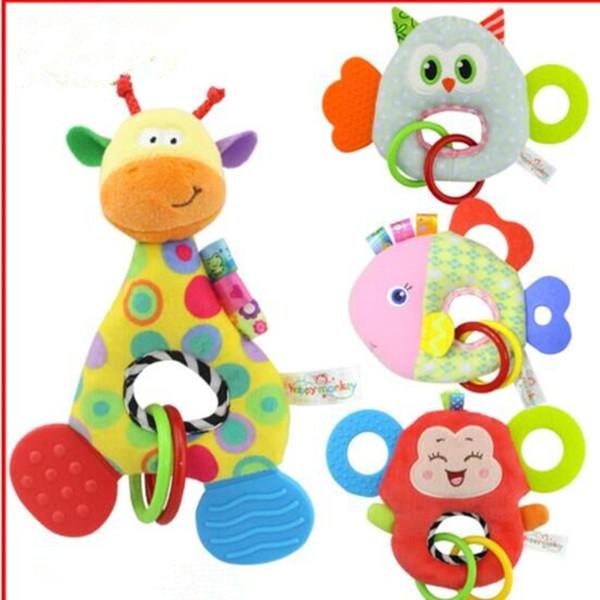 Baby Gift Windbells Cartoon Animals Plush Multifunction Lathes Gutta Wind Chimes Car/Bed Hanging Rings Bells Newborn Toys