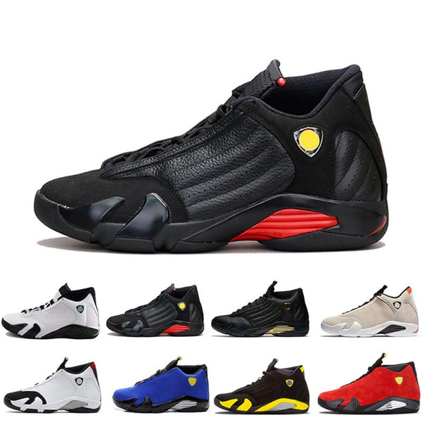 Arrival New Ferrar 14s Thunder Last Shot Men Basketball Shoes Thunder Mens Athletic Trainers High Quality Des Chaussures