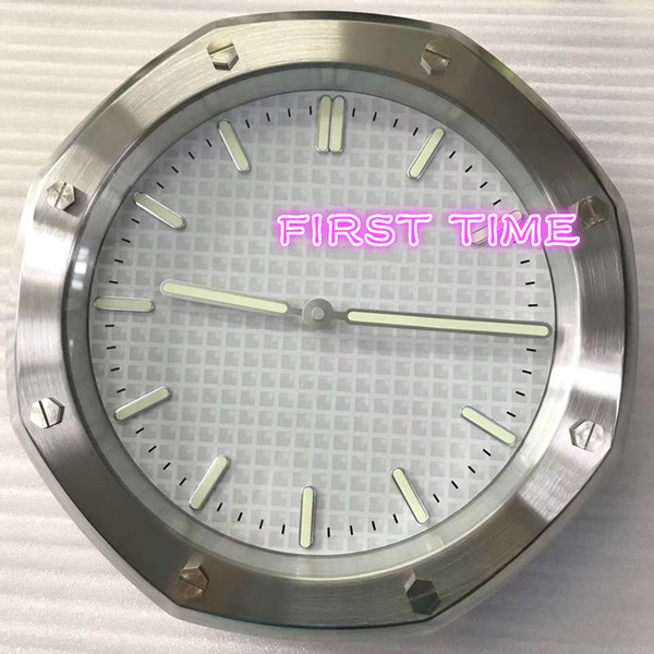 Home Decor Wall Clock Modern Design High Quality Brand New Stainless on