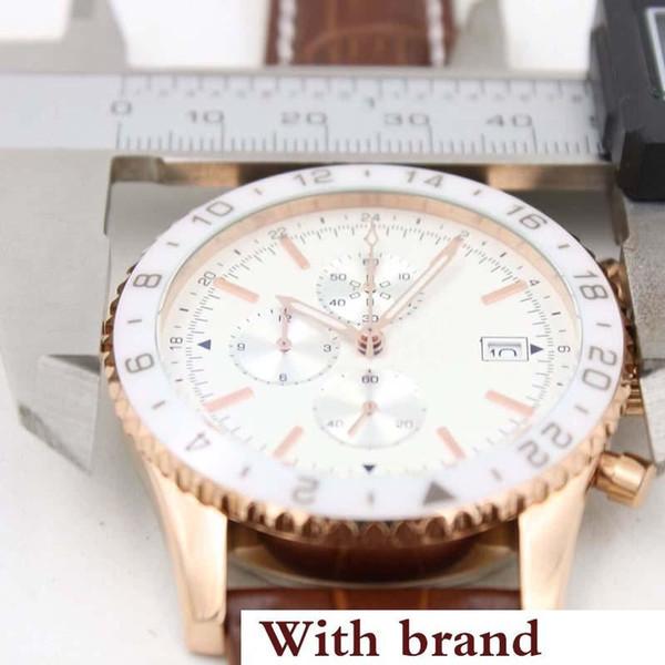 BR 24 Superocean Chronograph Механизм с кварцевым механизмом 1884 Chronoliner Everose Белый керамический безель es Y2431033 Мужские часы